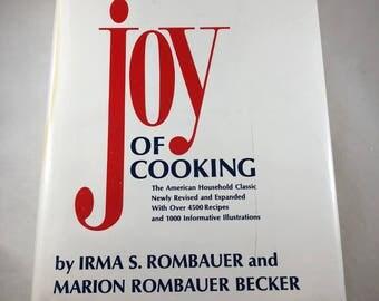 The Joy of Cooking, 1970s Cook Book, Vintage Cook Book, Vintage Kitchen Decor, Recipe Book, 1975 Edition, Retro Cookbook, Dessert Recipes