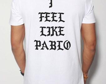 T-shirt long oversize Pablo Kanye west white