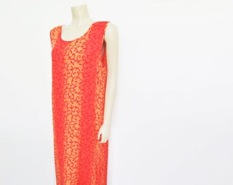 Boho Maxi Dress, UK14, Orange Dress, Beach Dress, Festival Clothing, Hippie Dress, Orange Maxi Dress, Bohemian Clothing, Women's Clothing