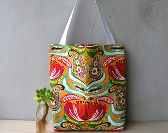 Tote Bag - Shopping Bag - Handbag - Gifts for her - Birthday - Tropical - Floral - Colourful - Bright Floral Bag - Summer Bag - Abstract
