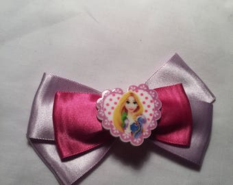 Satin Disney tangled / Repunzel hair bow / headband / clip