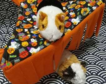 Halloween EDITION Corner Peekaboo-Mock (Hammock/ Tenant) for your Guinea pig and small animals