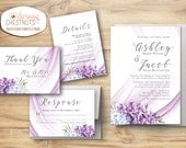 30 Lilac invitation sets - Design and print