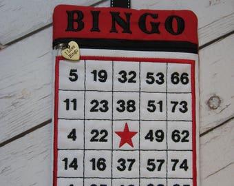Bingo Bag/Bingo Clip Bag/Bingo Accessory Bag by  https://www.etsy.com/shop/HummingbirdGoodsby
