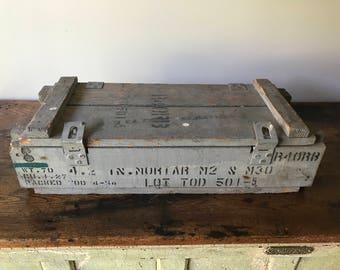 Original 1951  Military Mortar Shell Box - Pekin Wood Products