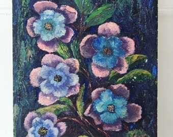 Blue Violet Painting