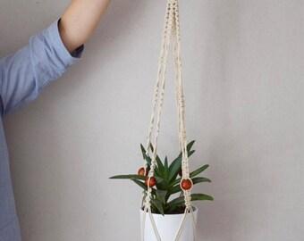 Hanging macrame planter / plant hanging / wall decor / wall art