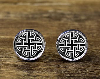 Celtic Knot cufflinks, Celtic Knot cuff links, Celtic Knot jewelry