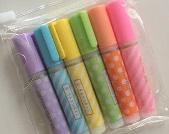 Mini Highlighter Set in Zipper Pouch