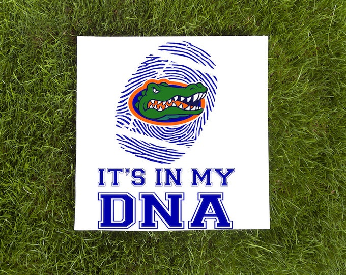 Gators VInyl Decal-Its In My DNA-Florida Gators Thumbprint-Vinyl Decal-Football-Tumbler-Wall Decal