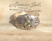Art Deco Ring Vintage Jewellery Peridot Ring Art Deco Jewellery Period Ring Art Deco Silver Ring Art Deco Jewelry Antique Ring