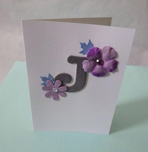 "Monogram/Initial Card - Letter ""J"""
