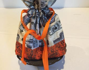 Potion Bottle andOrange Halloween Drawstring Bag