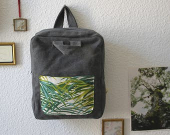 Backpack / purse / nature / plant cloth / fabric backpack