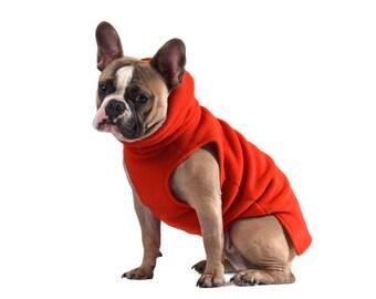 3. FIRE Polartec 200 dog sweater bright, soft, warm, french bulldog, pug, boston terrier coat indoor outdoor