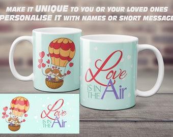 Love is in the air, Personalised Love Mug, Humour Love Mug,Coffee Mug, Love gift, Forever Love, So in love