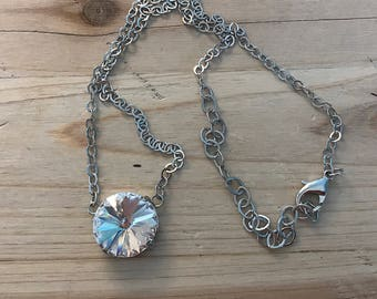 18mm Clear Dangle Necklace