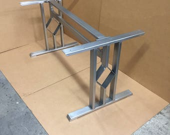 V shaped dining table legs industrial legs set of 2 steel for How to make a sturdy table base