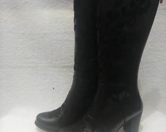Leather embroidery boots.Every size is possible..Suzani boots.