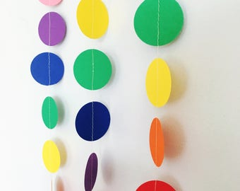 Rainbow circle garland