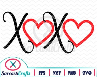 XOXO - Valentine's Day Graphic - Digital download - svg - eps - png - dxf - Cricut - Cameo - Files for cutting machines
