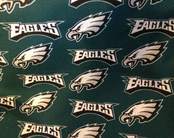 NFL PHILADELPHIA EAGLES Football 100% cotton fabric material you choose length licensed Crafts, Quilts, Home Decor