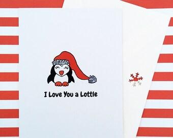 Penguin Card Christmas, Christmas Card Boyfriend, Christmas Card Girlfriend, Christmas Card Wife, Unique Christmas Cards