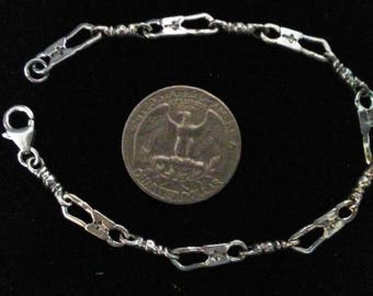 Fishers Of Men Sterling Silver 925 Bracelet Acts Retreat Religious 7 inches