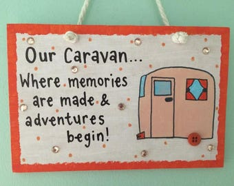 Personalised caravan plaque