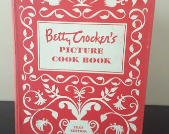 Betty Crocker's Picture Cook Book, Copyright 1950, Vintage Mid-Century Cookbook, Collectible Cookbook, Gift for Cooks, Bridal Shower, PL3626