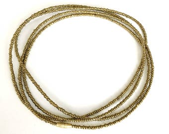 Gold African Waist Beads - Waist Beads - Belly Chain - Belly Beads
