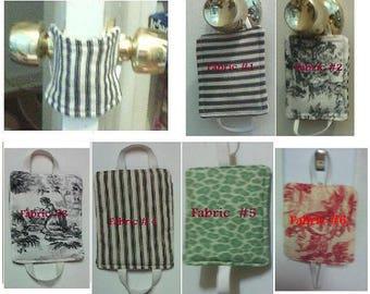 CHOOSE Fabric Door Latch Cover Slam stopper Door protection Silencer Door cushion Muffler