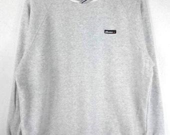 RARE!!! Ellesse Small Logo Embroidery V-Neck Grey Colour Sweatshirts Hip Hop Swag L Size