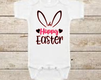 Hoppy Easter - Happy Easter - Easter - Easter Shirt - Easter Onesie - Fashion - Easter Bunny - Easter Outfit - Baby - Baby Onesie