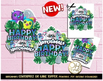 Hatchimals Center Piece,Hatchimals cake topper,Hatchimal Party Supplies,Hatchimal printable,Hatchimals instant download,hatchimal,hatchimals