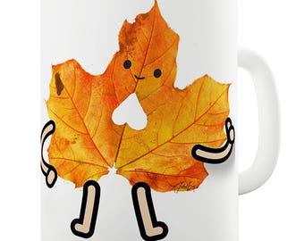 Friendly Maple Leaf Ceramic Novelty Gift Mug