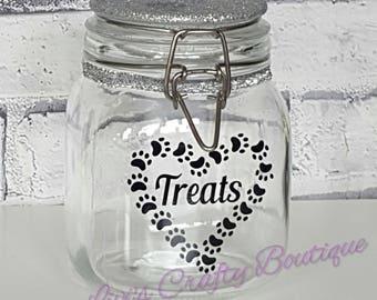 Dog Treat Jar, Cat Treat Jar, Dog Biscuit Jar, Pet Treat Jars,Pet Food Storage, Dog Treat Container, Doggie Treat Jar, Mason Jar, Small Jars