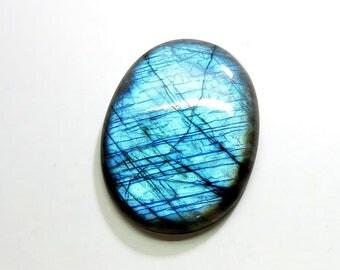 63Cts Natural Labradorite Cabochon Loose Gemstone Oval Top AAA Blue Fire Labradorite Gemstones Labradorite Jewelry Making 38X30X6mm