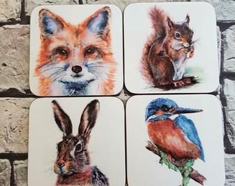 Set of 4 Wildlife Coasters