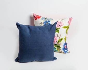 Blue Linen Pillow, Blue, Linen Pillow, Blue Linen Pillow Cover, Cozy Home, Throw Pillow, Blue Throw Pillow, Beach House, Midcentury