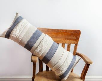 Upholstery Bolster Pillow, Blue Gray, Bolster Pillow, Bedroom Pillow, Long Pillow, Large Bolster Pillow, Beach House, Farm House, Pillow