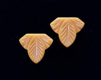 Rich Butterscotch Bakelite Shoe Clips SALE