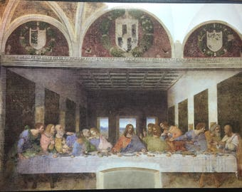 The Last Supper by DaVinci high quality textured print