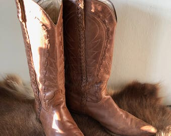 Sendra Western boots, made in Spain, brown, leather, size 41 EU/7 UK.