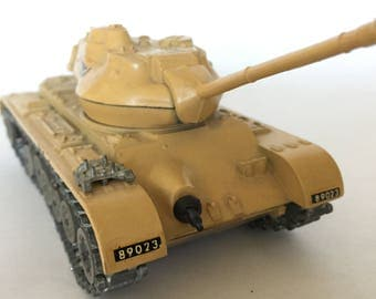 tank die cast metal Solido General Patton M-47 tank vintage heirloom collectible military tank made in France Israeli tank Solido France