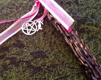 Pagan Witch Wand Pentagram Hare