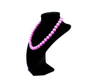15.5 to 17.75 inch necklace purple beads