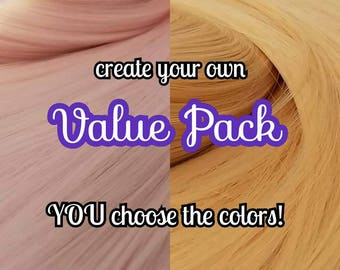 Create Your Own Pack Choose 2 XL Hanks Nylon Doll Hair Hank for Rerooting Barbie® Monster High® Ever After High® MLP Fashion Royalty Disney