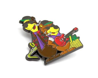 The Grizzy Bear Hat Pin- Streetwear Lapel Music Festival Trippy Festival Griz