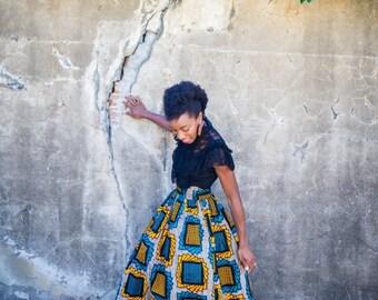 Long African Print Maxi Skirts / Wax Print / Ankara Print (Nakimera)